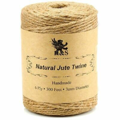 Rope String Garden Twist Twine Thick Strong Natural Jute Roll 600 Feet 6ply 3mm