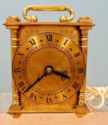 Vintage Smith's Brass Mantel Clock with Electric Movement - Untested