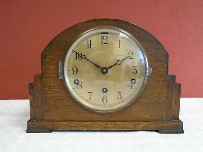 1930's ANTIQUE WESTMINSTER CHIME MANTLE CLOCK-SB