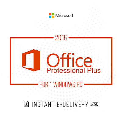 Microsoft Office 2016 Professional Plus For Windows 10 Product Key License Suite