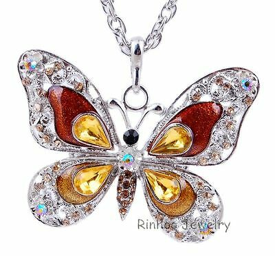 Fashion Elegant Charm Hot Necklace Jewellery Butterfly Pandent Men Women Gift