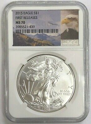 2015 American Silver Eagle NGC MS70 - First Releases