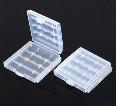 New 5 Clear Plastic Battery Box Storage Case For AA AAA Batteries