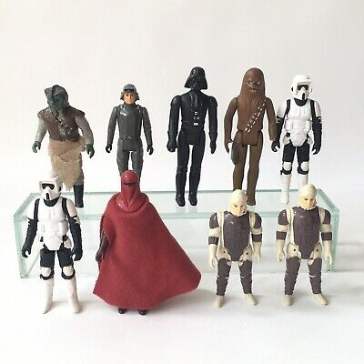 Vintage Kenner Star Wars Action Figure Job Lot x 9 Vader Chewy Scout Royal Guard
