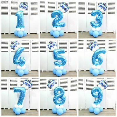 """Number Foil Balloons Pink&Blue Digit Helium Ballons Birthday Party Decor 32"""""""