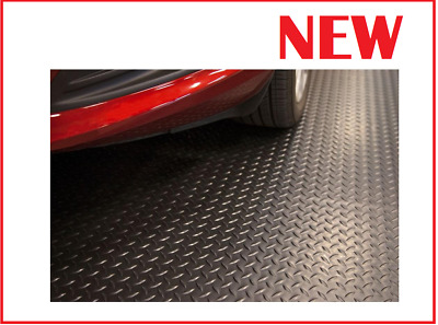Rubber Garage Floor Mats >> Garage Floor Mats For Cars Heavy Duty Flooring Rubber Roll Out Liner Home Black
