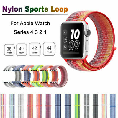 Für Apple Watch Armband Nylon Uhrenarmband Sport Loop Series 4 3 2 1