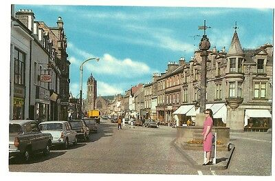 Peebles - a photographic postcard of High Street
