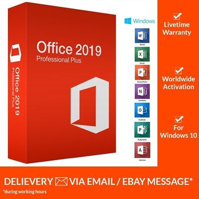 INSTANT MS Office 2019 Pro Plus Key 32/ 64Bit Download License for 1PC Genuine
