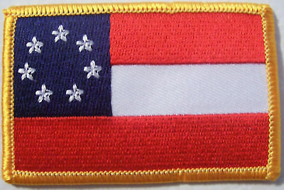 FIRST NATIONAL CONFEDERATE  PATCH - 1st REBEL - DIXIE - CIVIL WAR VEST PATCH