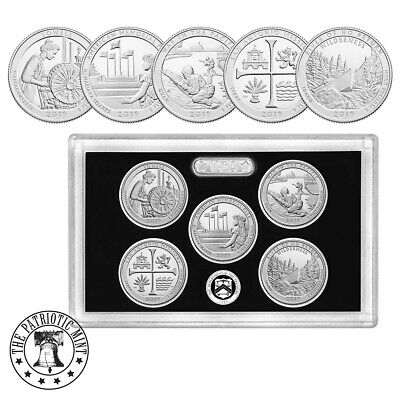 2019-S Silver America the Beautiful Quarters Proof Set -1st .999 silver quarters