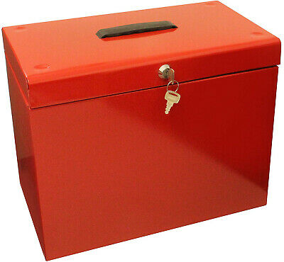 Metal Filing Storage Box For A4 Documents With Suspension Files Lockable
