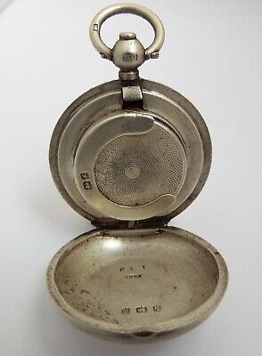 Lovely Clean Rare Large Size English Antique 1906 Sterling Silver Sovereign Case