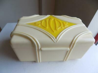 Art Deco Stunning & Rare French Bakelite/Lucite Large SUIDE Trinket Box