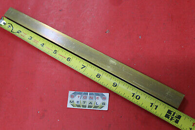 "3/8"" x 3/4"" C360 BRASS FLAT BAR 12"" long Solid Mill Stock H02 .375""x .75""x 12"""