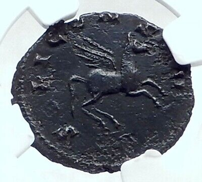 GALLIENUS AUthentic Ancient 267AD Rome Genuine Roman Coin PEGASUS NGC i77631