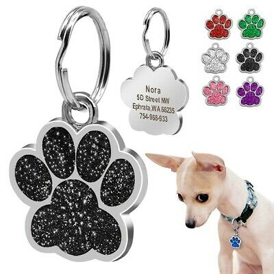 Dog ID tag for small and medium sized dogs Paw foot pet accessories decoration