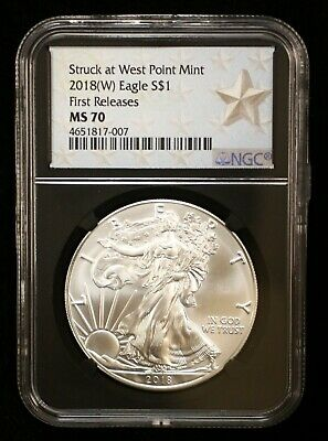 2018 W American Eagle First Releases Ngc Ms70