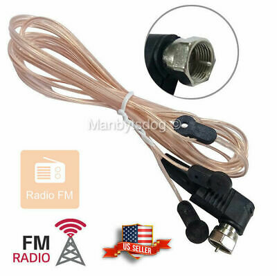 FM Dipole Antenna MALE Type F Connect Threaded Screw On HD Radio Stereo US
