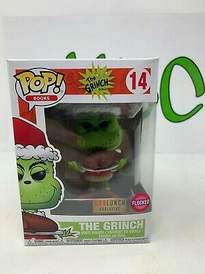 L@@K!Funko POP! Books The Grinch 14 The Grinch Flocked Box Lunch Exclusive *NEW*