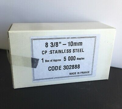 "#80 Series - 3/8"" Stainless Steel 21 Gauge Upholstery Staples 5000/Box"