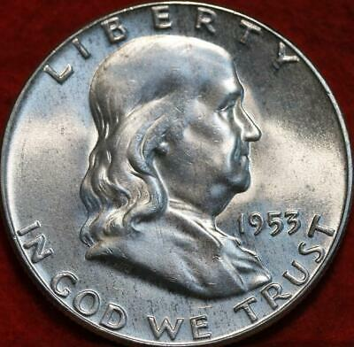 Uncirculated 1953 Philadelphia Mint Silver Franklin Half