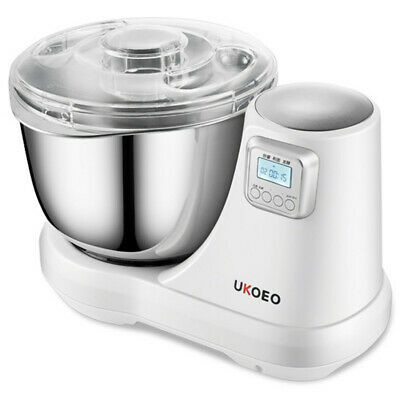 UKOEO 300W Stainless Steel Electric Stand Flour Dough Mixer Pasta Noodle Machine