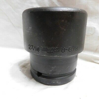 """Williams 1-1/2"""" Drive 2-7/16"""" Impact Socket 8-678 - 6 Point - Made in the USA"""