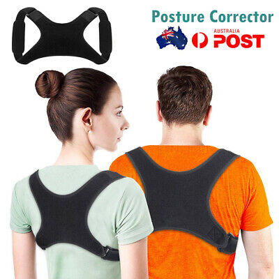 Adjustable Therapy Posture Corrector Support Body Shoulder Brace Back Relief AU