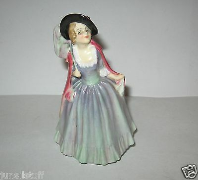 "Vintage Rare Royal Doulton England 4 1/4"" Mirabel M74 Lady Figurine"