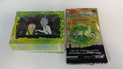 2018 Cryptozoic ... Rick and Morty Complete Set #1-45 + Wrapper