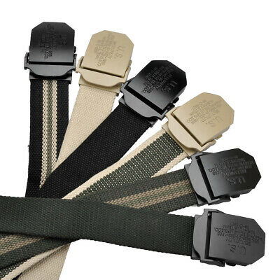 Men Canvas Military Style Casual Outdoor Tactical Webbing Rigger Web Buckle Belt