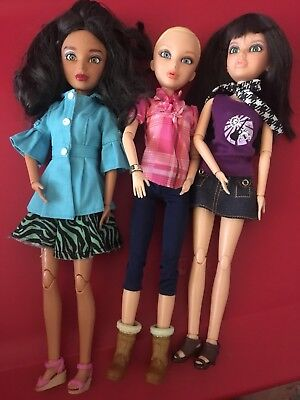 SPIN MASTER Lot Liv Dolls articulated Clothes Wigs shoes boots Spinmaster EUC