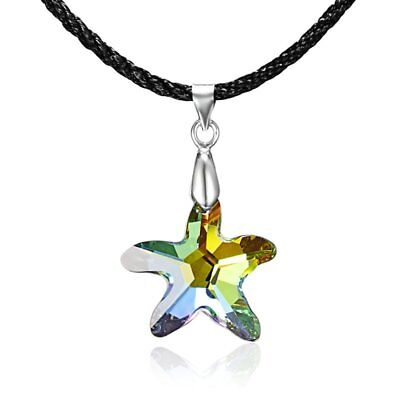 Elegant Charm Women Colourful Star Crystal Pendant Necklace Chain Jewelry Gift