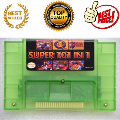 Super 101 in 1 game cartridge for SNES multicart 24games Can Battery Save