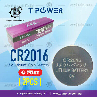 2 x CR2016 3V Lithium Battery STOCK IN Melbourne Button Coin Cell CR-2016