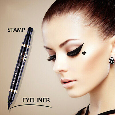 2 in 1 Pro winged eyeliner stamp waterproof makeup eye liner-pencil black liquid