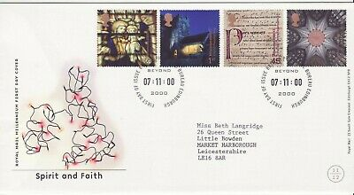 GB Stamps First Day Cover Spirit and Faith, church, religion SHS Millennium 2000