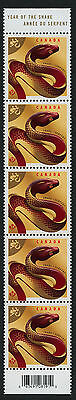 Canada 2599 vertical strip MNH Year of the Snake, Lunar New Year