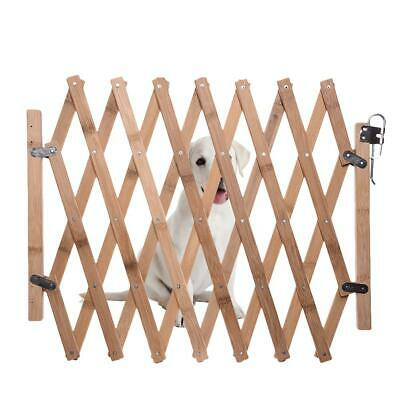 Expanding Fence Wooden House Safety Gate For Puppy Dog Pet Cat With Swing Door