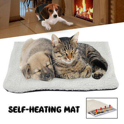 Pet Self Heating Thermal Dog Cat Bed Kitty Cushion Heated Mat Warm Washable AU