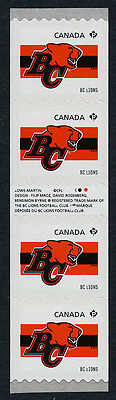 Canada 2559i Gutter pair coil strip MNH CFL BC Lions, Sports