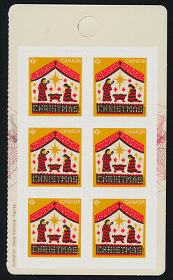 Canada 3133a Right Booklet pane MNH Christmas, Away in a Manger