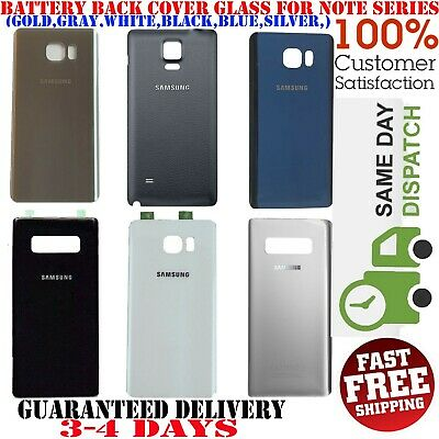 OEM Battery Glass Back Door Cover Parts For Samsung Galaxy Note 4 Note 5 Note 8