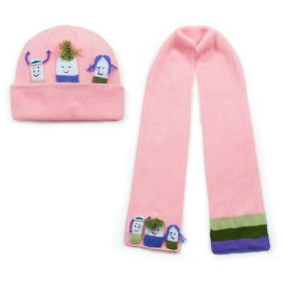 Kidorable Pink Girls Knitwear Childrens Knitted Hat & Scarf Winter Accessories