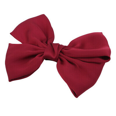 Women Girls Sweet Big Bowknot Satin Headdress Hairpin Hair Accessories CB