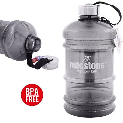 2.2L Large Giant BPA Free Water Bottle Gym Fitness Drink Sports Training Camp