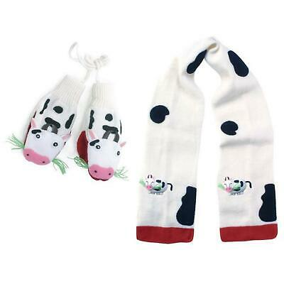 Kidorable Cow Childrens Knitwear Kids Unisex Farm Animal Knitted Mittens & Scarf