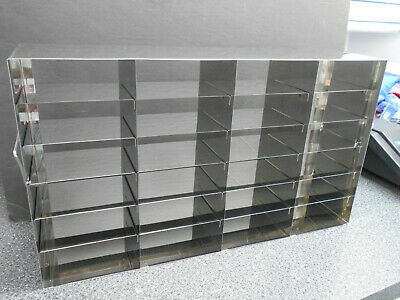 "Stainless Steel Laboratory Cryo 24 Slot Storage Freezer Racks 22"" X 5.5"" X 12.5"""