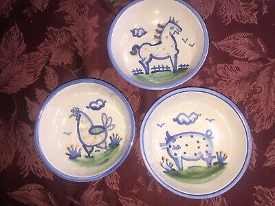Vintage Mary Hadley Farm Animal Cereal Salad Bowls 3 For You